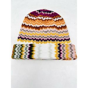 Missoni Zig Zag Wool Blend Winter Hat Cap